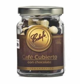 Café cubierto con chocolate combinado