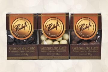 Café cubierto de chocolate